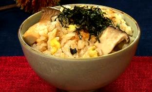 松茸&栗風味炊き込みごごはん