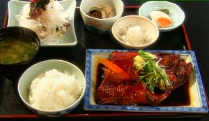 きんめの煮魚定食