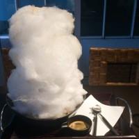 綿菓子と台湾ポントンのアフォガード